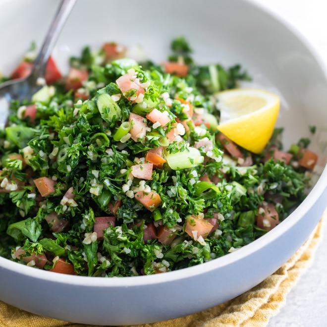 Easy Bulgur Tabbouleh Recipe   Culinary Hill