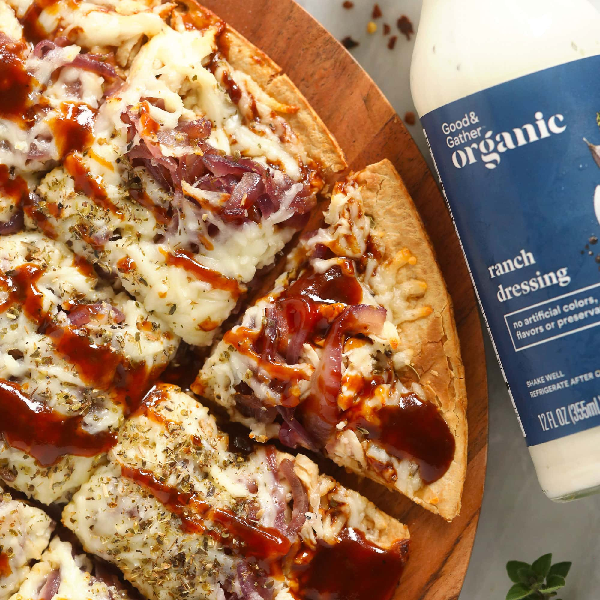 BBQ Chicken Pizza with Caramelized Onions - Fit Foodie Finds