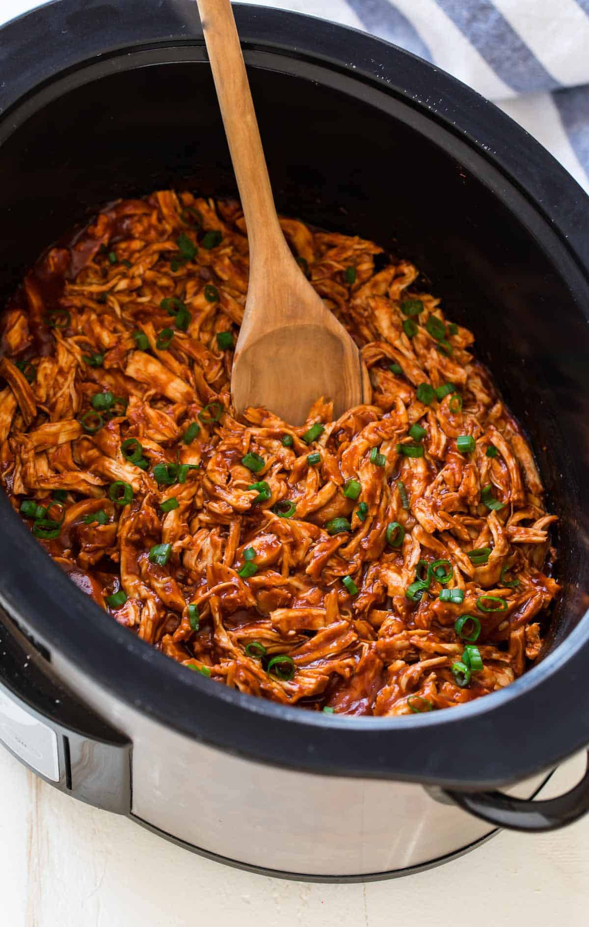Crockpot BBQ Chicken | Tender, Easy Crockpot Chicken Recipe