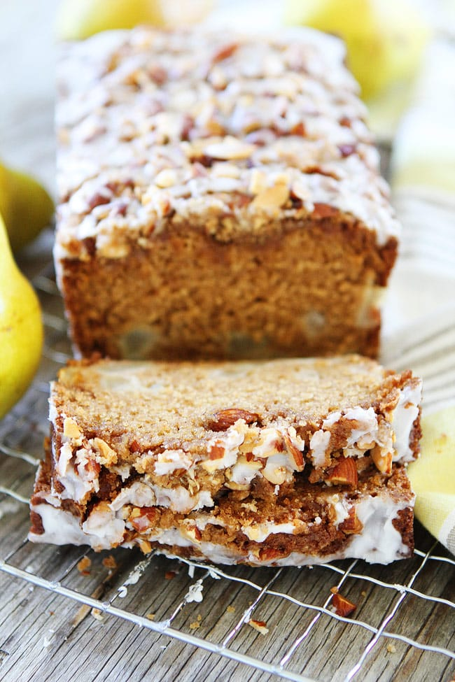 Pear Bread {Almond Streusel Topping} - Two Peas & Their Pod