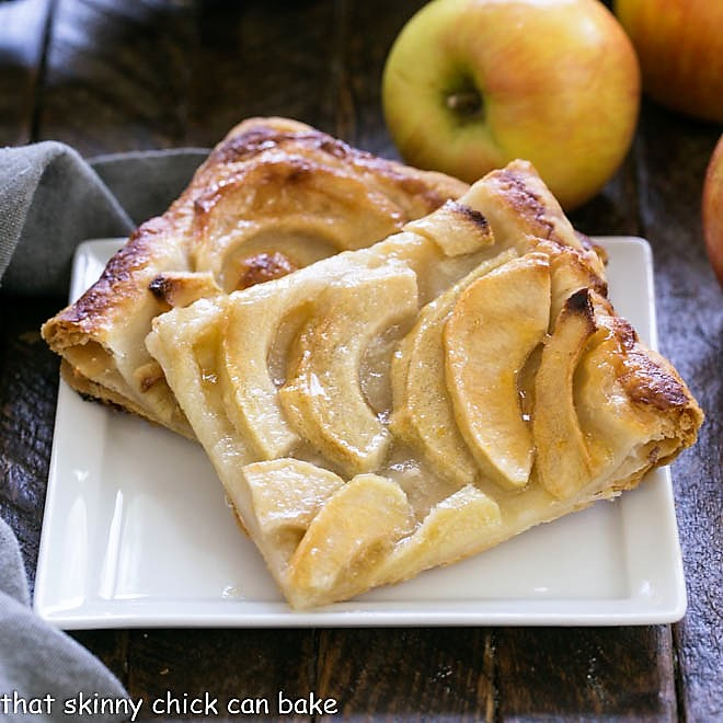 Easy French Apple Tart -That Skinny Chick Can Bake