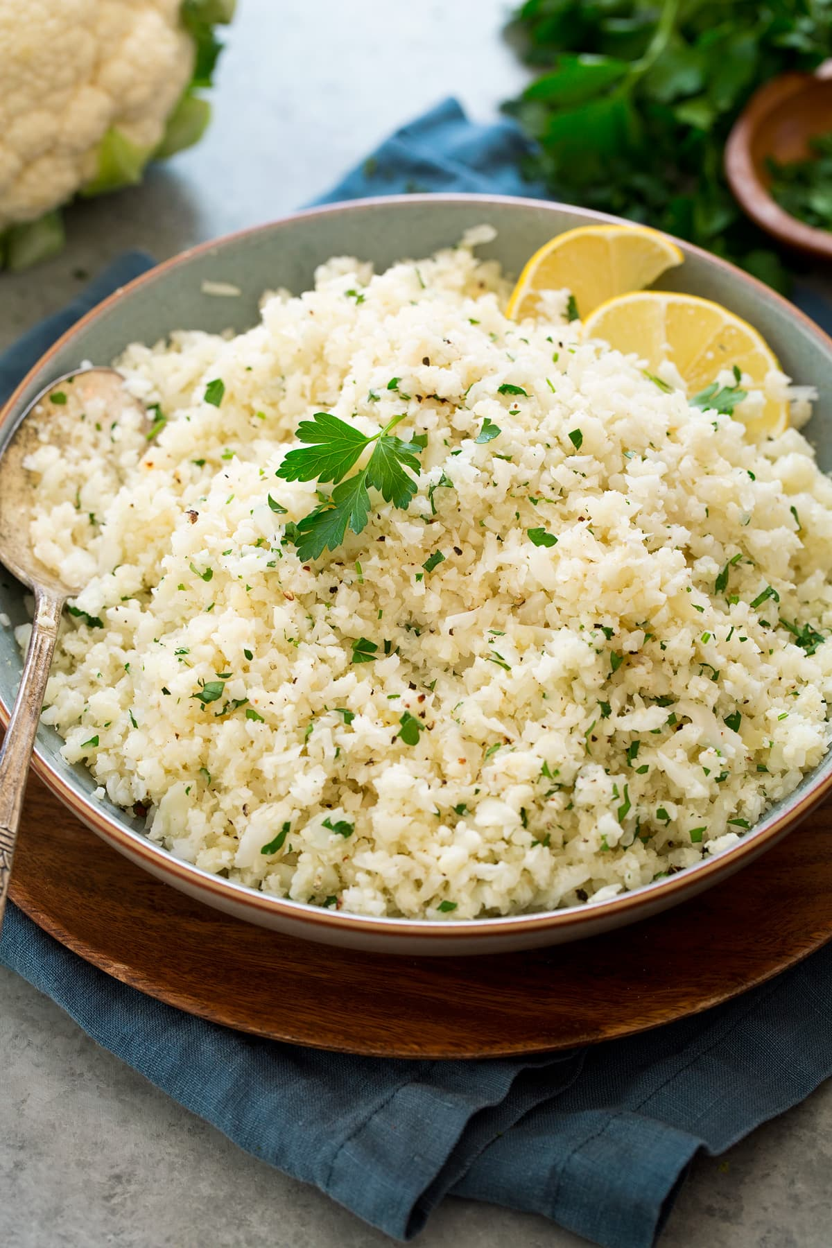 Cauliflower Rice {with Garlic and Parmesan} - Cooking Classy