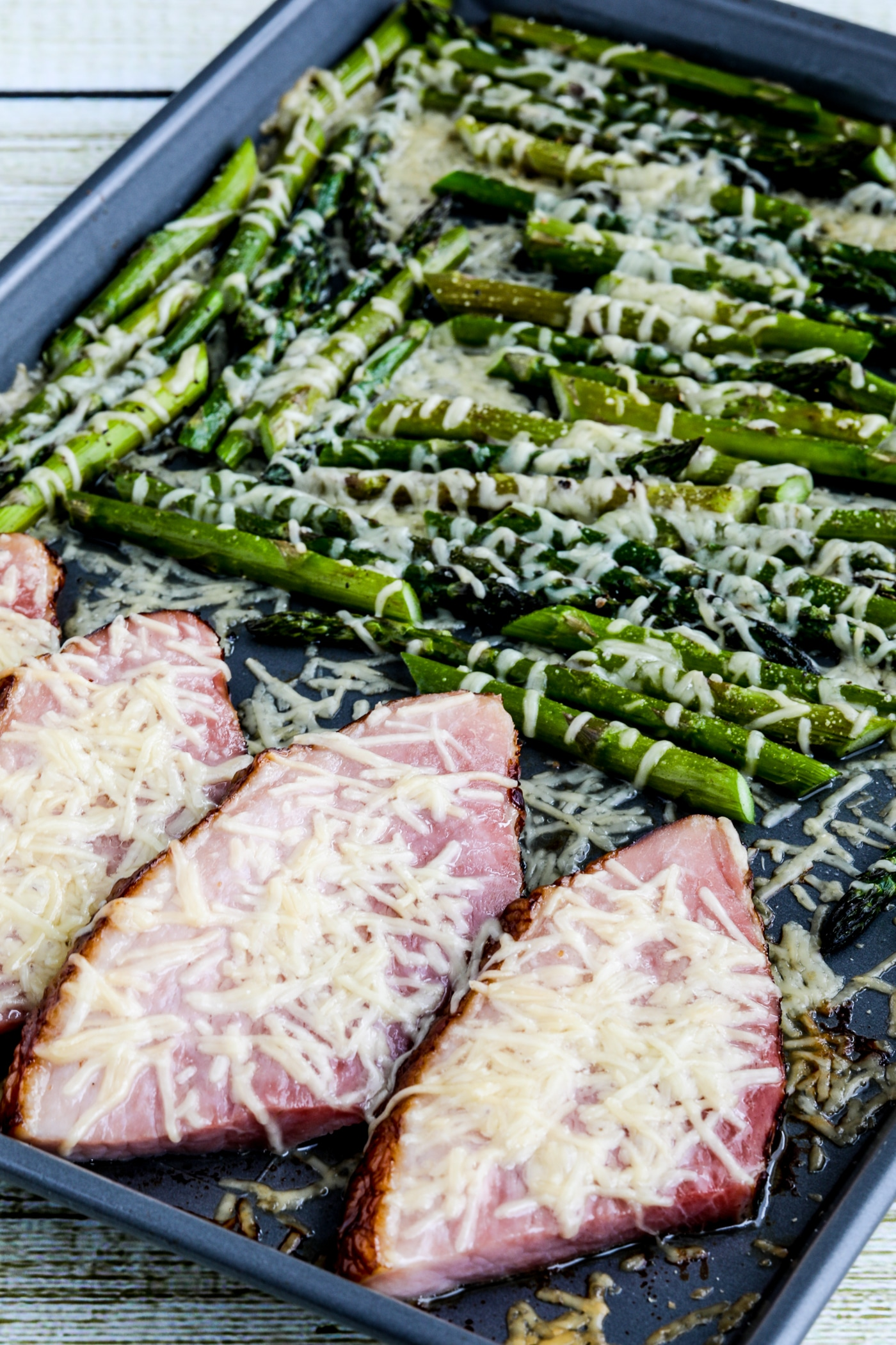 Easy Cheesy Baked Ham and Asparagus  Kalyn