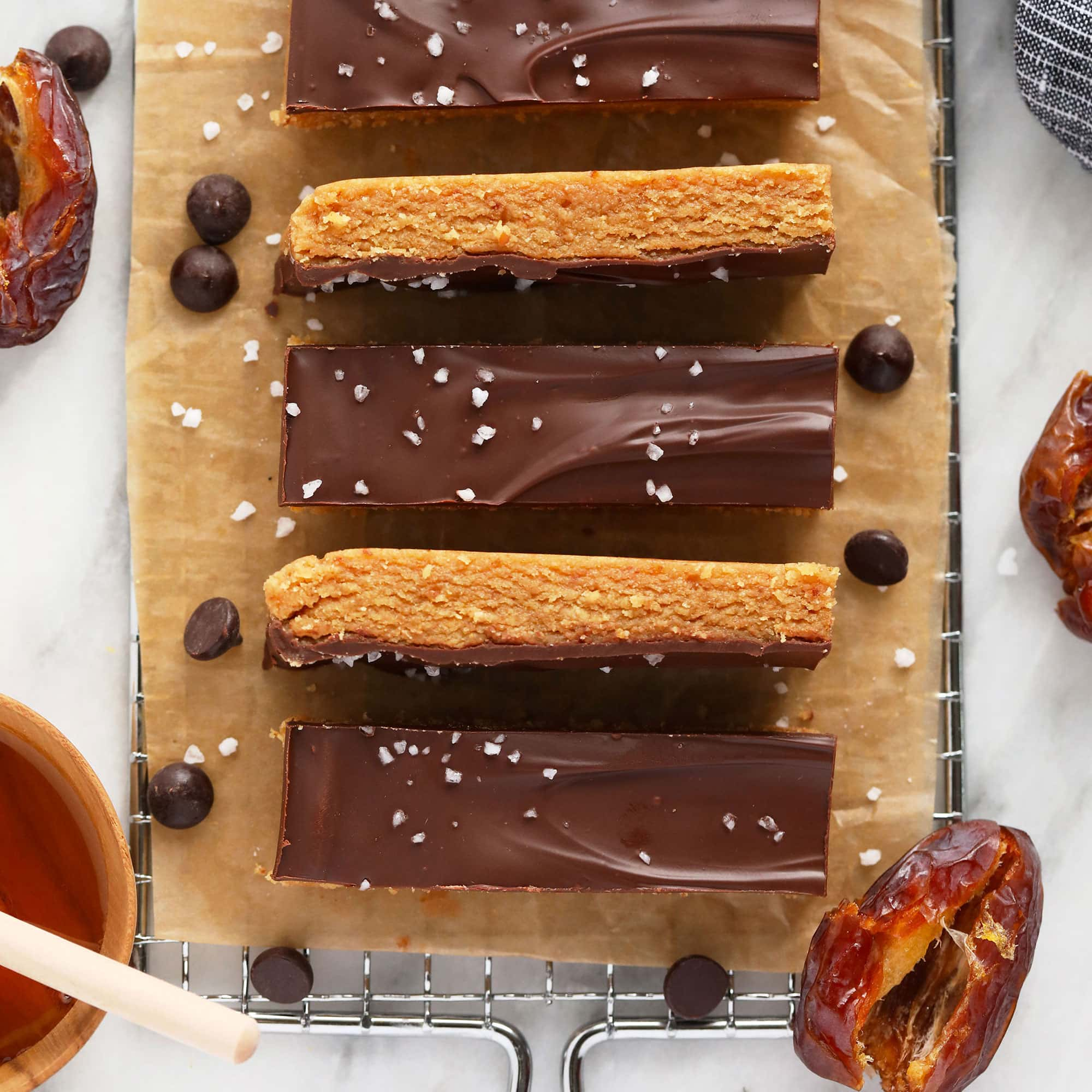 Best Homemade Protein Bars (PB + Chocolate) - Fit Foodie Finds