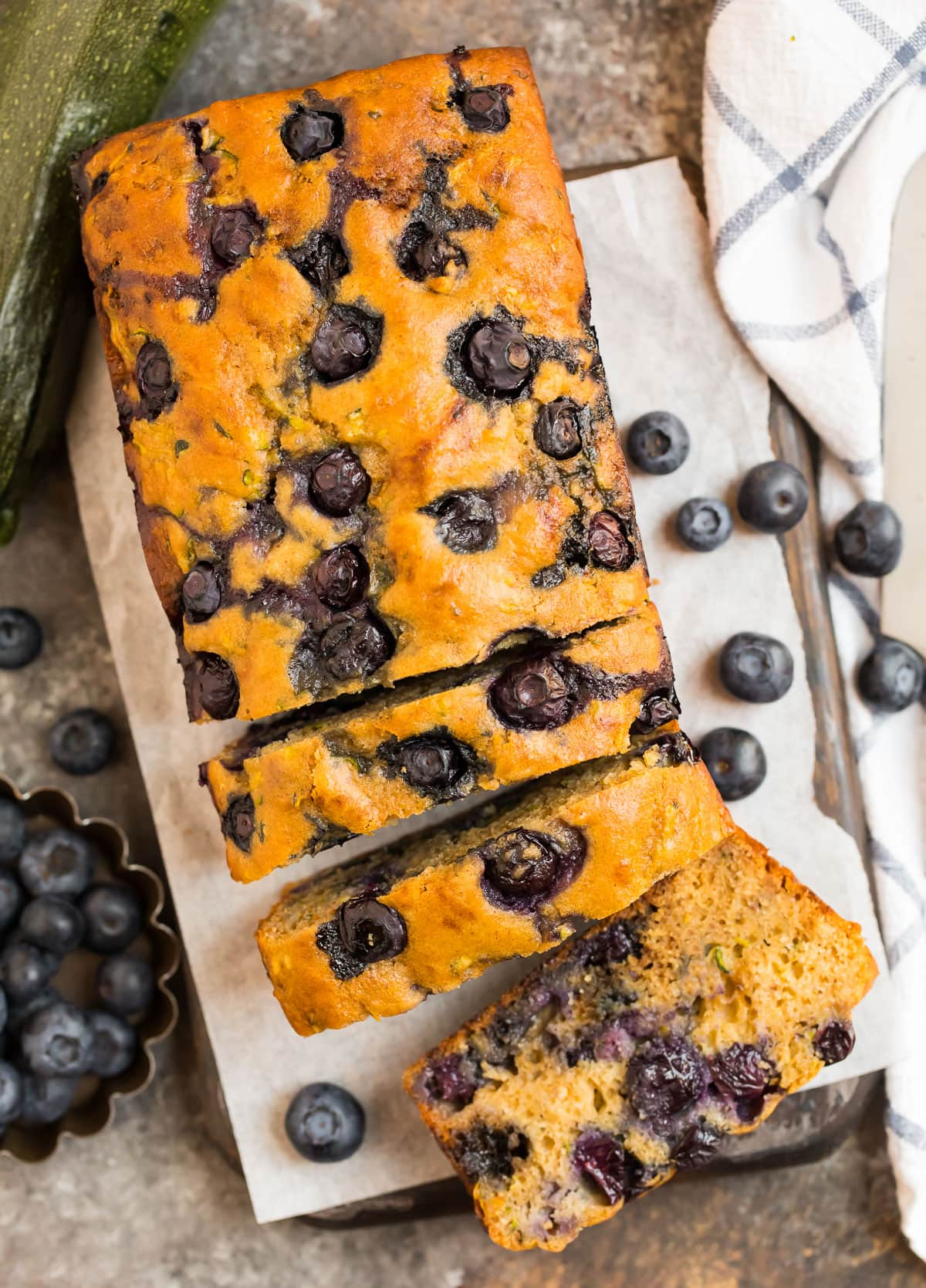Blueberry Zucchini Bread {Easy, Healthy Recipe}  WellPlated.com