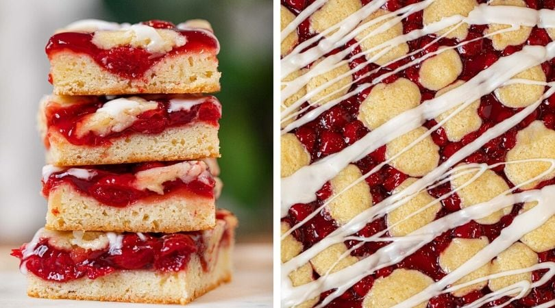 Easy Cherry Bars Recipe (Great for a Crowd!) - Dinner, then Dessert