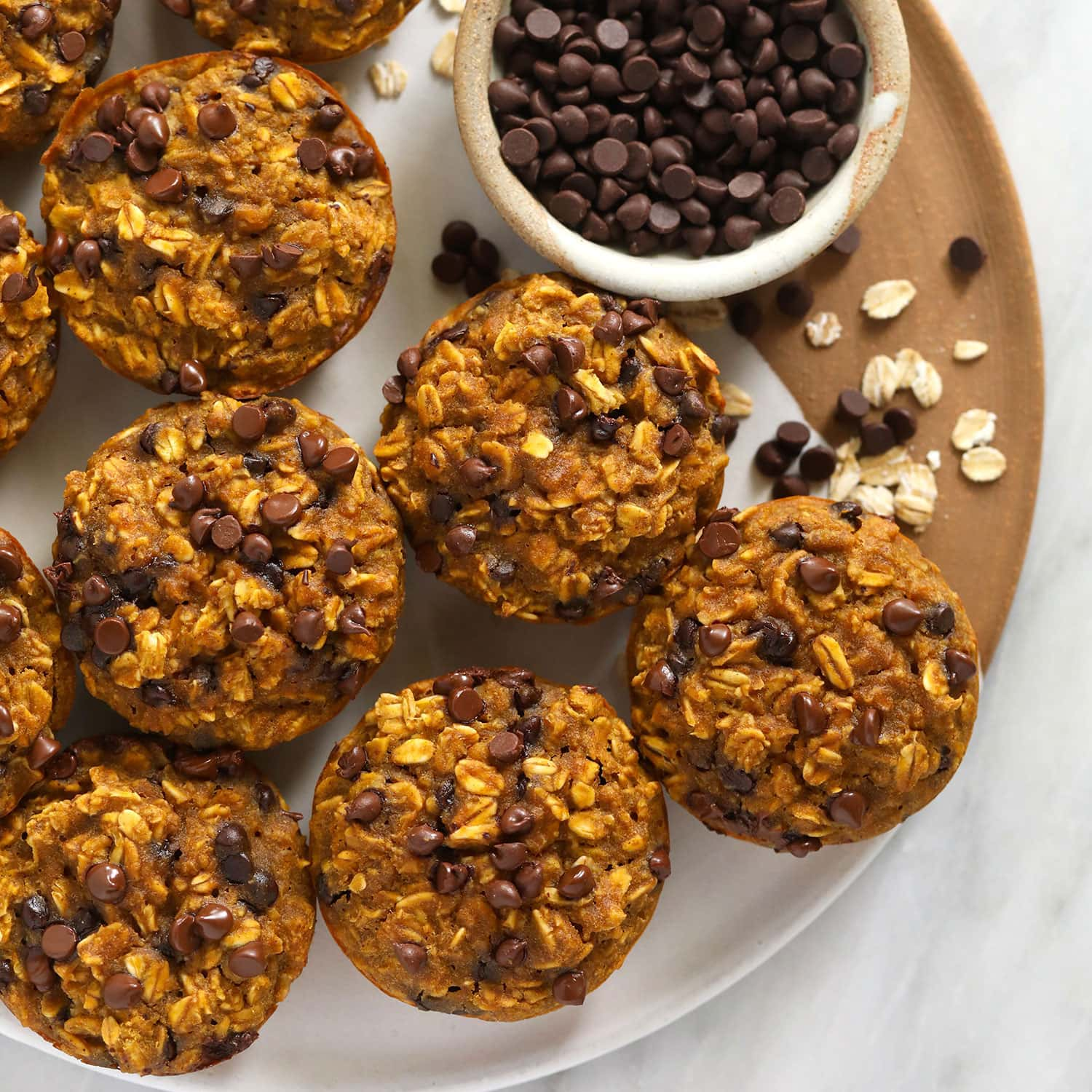 Pumpkin Baked Oatmeal Cups (Healthy!) - Fit Foodie Finds