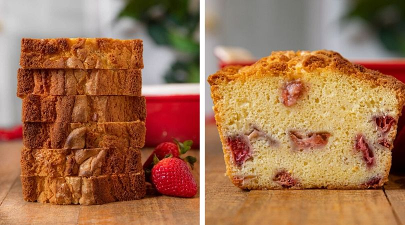 Easy Strawberry Shortcake Loaf Recipe - Dinner, then Dessert